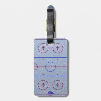 Hockey Ice Rink Luggage Tag