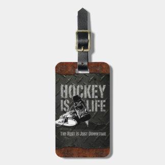 Hockey Is Life Luggage Tag