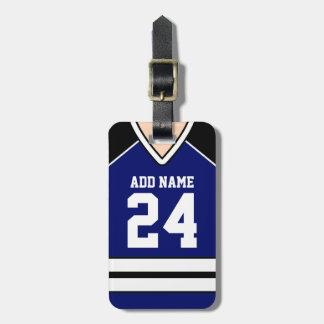 Hockey Jersey Custom Name/Number Bag Tag