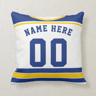 Hockey Jersey Name & Number Template Pillow