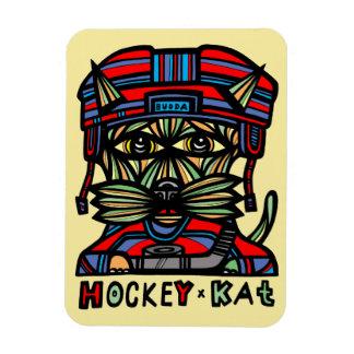 """""""Hockey Kat"""" 3""""x4"""" Magnet"""