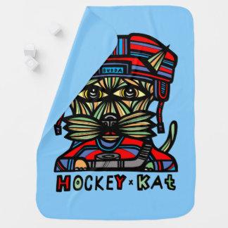 """""""Hockey Kat"""" Baby Blanket"""