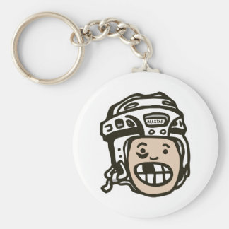 Hockey Kid Key Ring