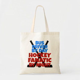 Hockey Lover Bus Driver Budget Tote Bag