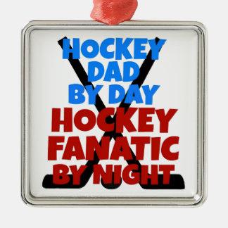 Hockey Lover Hockey Dad Metal Ornament