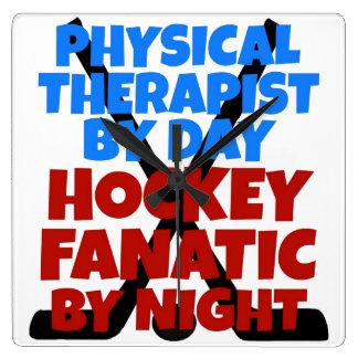 Hockey Lover Physical Therapist Clock