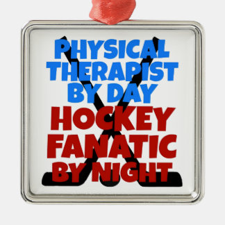 Hockey Lover Physical Therapist Christmas Tree Ornaments