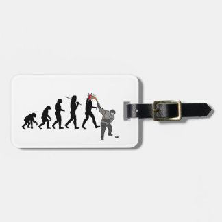 Hockey Man Luggage Tag