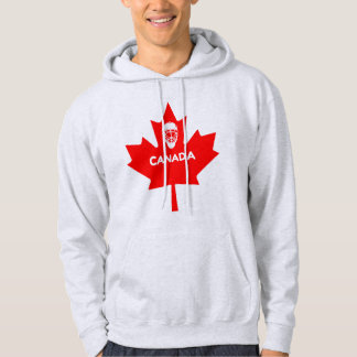 Hockey Mask On Canada Maple Leaf Hoodie