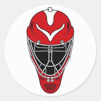 Hockey mask round sticker