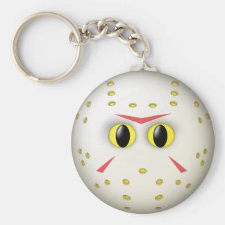 Hockey Mask Smiley Face Key Ring