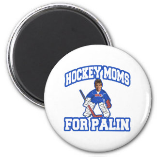 Hockey Moms for Palin 6 Cm Round Magnet