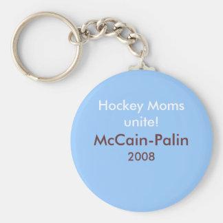 Hockey Moms unite! McCain-Palin '08 Keychain