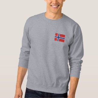 Hockey  Norway Norwegian Sports Embroidered Sweatshirt