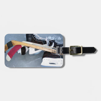 Hockey (personalize) luggage tag