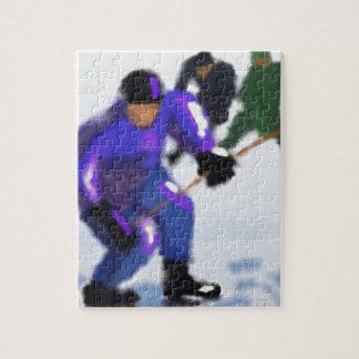 Hockey Play Art Jigsaw Puzzle
