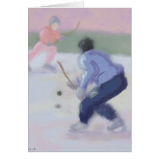 Hockey Play Greeting Card