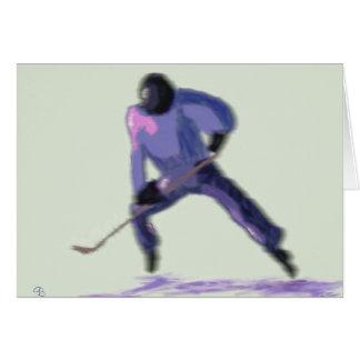 Hockey Player Art Card