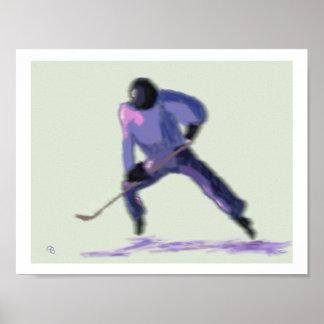 Hockey Player Art Poster
