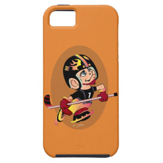 HOCKEY PLAYER CARTOON iPhone SE + iPhone 5/5S  T Tough iPhone 5 Case