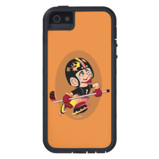 HOCKEY PLAYER CARTOON iPhone SE + iPhone 5/5S  TX Cover For iPhone 5