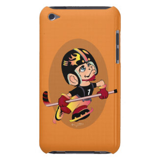 HOCKEY PLAYER CARTOON iPod Touch  Barely There iPod Touch Covers