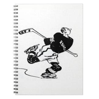 Hockey Player Cartoon Notebook