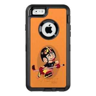 HOCKEY PLAYER CARTOON OtterBoxSymmetry iPhone 6/6D OtterBox iPhone 6/6s Case