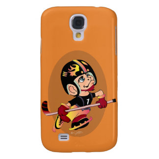 HOCKEY PLAYER CARTOON Samsung Galaxy S4   BT Samsung Galaxy S4 Cover