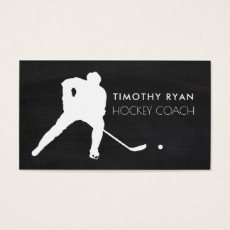 Hockey Player, Chalkboard Background, Hockey Business Card