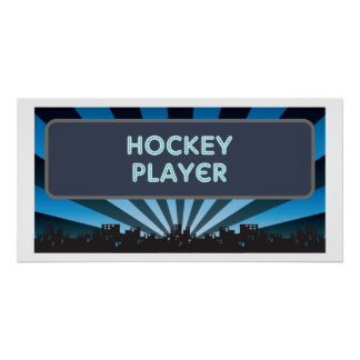 Hockey Player Marquee Poster