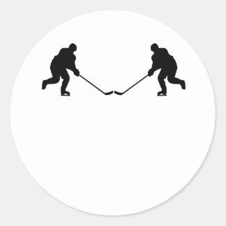 Hockey Player Mirror Image Sticker