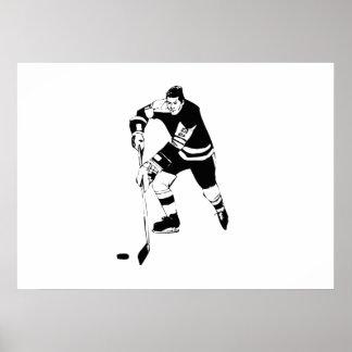 Hockey Player Print