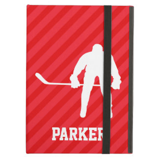 Hockey Player; Scarlet Red Stripes iPad Air Cover