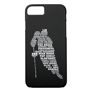 Hockey Player Typography Design iPhone 7 case