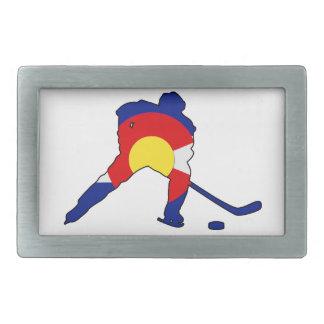 Hockey Player With Colorado Pride Belt Buckle
