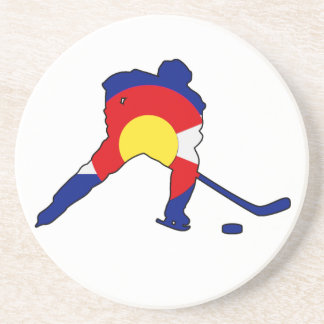 Hockey Player With Colorado Pride Coaster