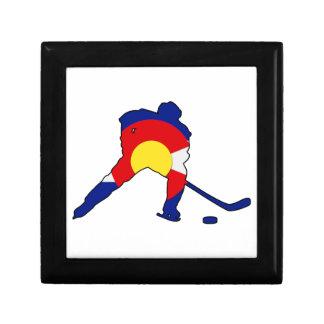 Hockey Player With Colorado Pride Gift Box