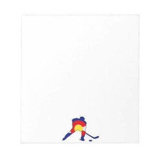 Hockey Player With Colorado Pride Notepad