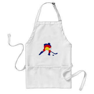 Hockey Player With Colorado Pride Standard Apron