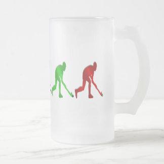 Hockey players field hockey stick and ball gifts mug