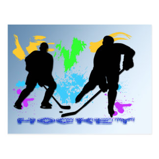 Hockey Players Postcard