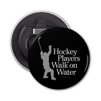 Hockey Players Walk On Water Bottle Opener