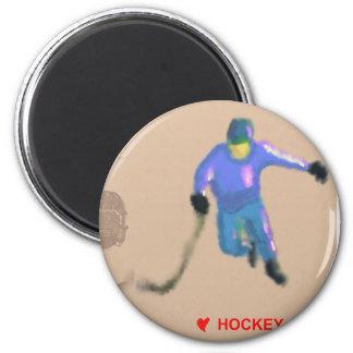 Hockey Playoff Art Magnet