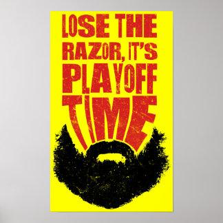 Hockey Playoff Beard Print