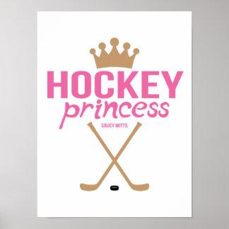Hockey Princess Pink Girls Hockey Sticks Poster