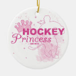 Hockey Princess Round Ceramic Decoration