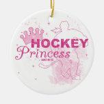 Hockey Princess Round Ceramic Decoration