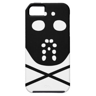 hockey protective mask and stick icon iPhone 5 cover