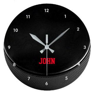 Hockey Puck Personalised Wall Clock